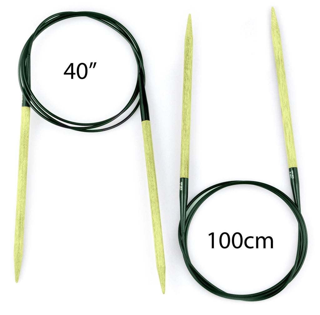 "LYKKE Grove Bamboo Fixed Circular Needles - 40"" (100cm) - The Needle Store"