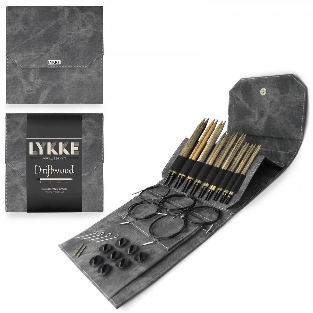 LYKKE Interchangeable Long Needle Set - Driftwood - The Needle Store