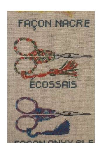 Sajou Natural Linen Tea Towel - Embroidery Scissors - The Needle Store