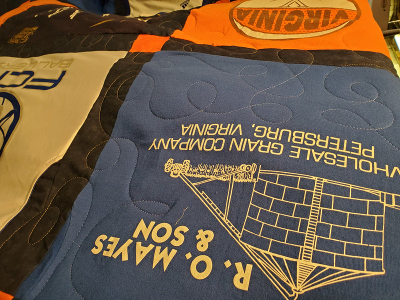 Addressing the Non-Stabilized, Double-sided T-shirt Quilt Part 2: Preserving Graphics