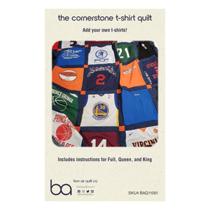 BAQ Cornerstone T-Shirt Quilt Pattern - Digital Download