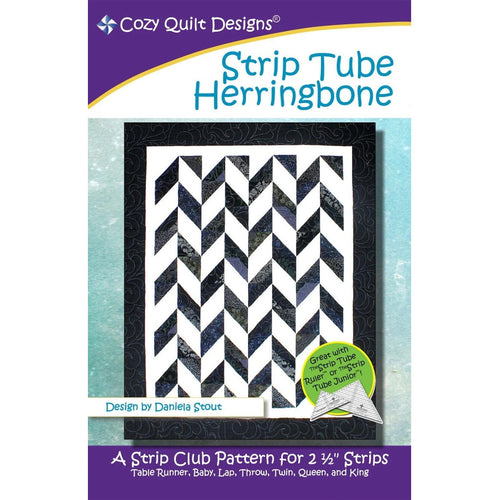 Strip Tube Herringbone by Cozy Quilt Design