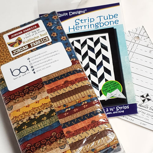 Waddington Road―Cozy Quilt Strip Tube Herringbone Quilt Kit