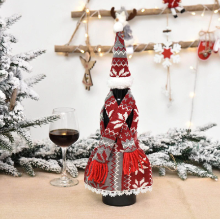 Christmas Decoration For Wine Bottle