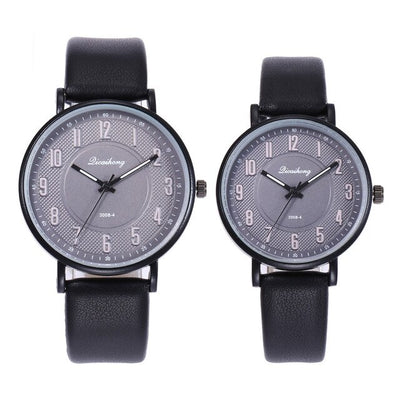 Leather Band Analog Quartz Round WristWatches