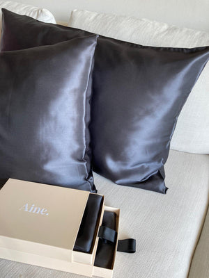 Charcoal Pure Silk Pillowcase
