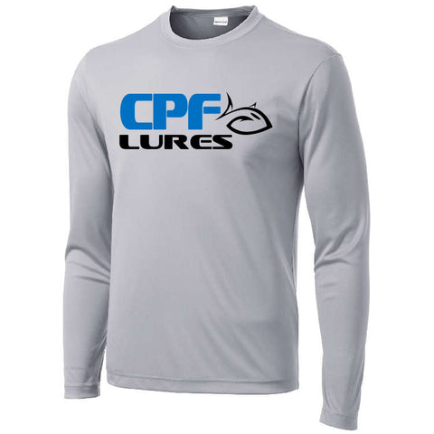 Silver CPF Lures Long Sleeve Performance T-Shirt