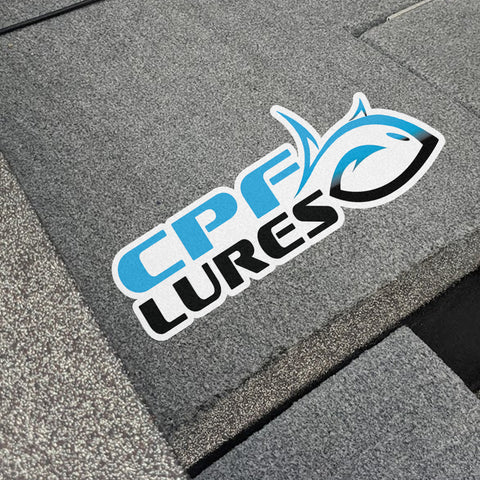 "12"" CPF Lures Boat Carpet Decal"