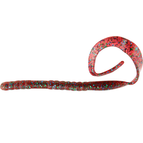 "10"" Ribbon Tail Worm Plum Apple"