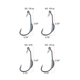 Wide Gap Weighted Screw Lock Swim bait hook
