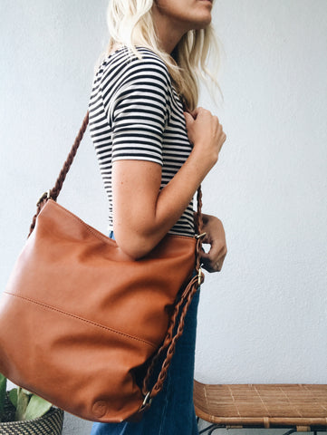 Braided Vegan Leather-Hilo Convertible Tote