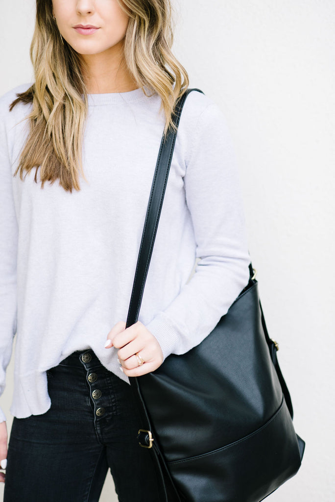 Vegan Leather-Hilo Convertible Tote