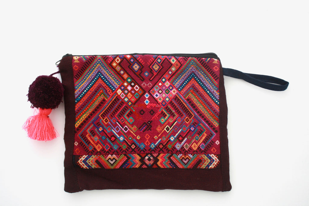 Huipil Cosmetic Bag- Aves