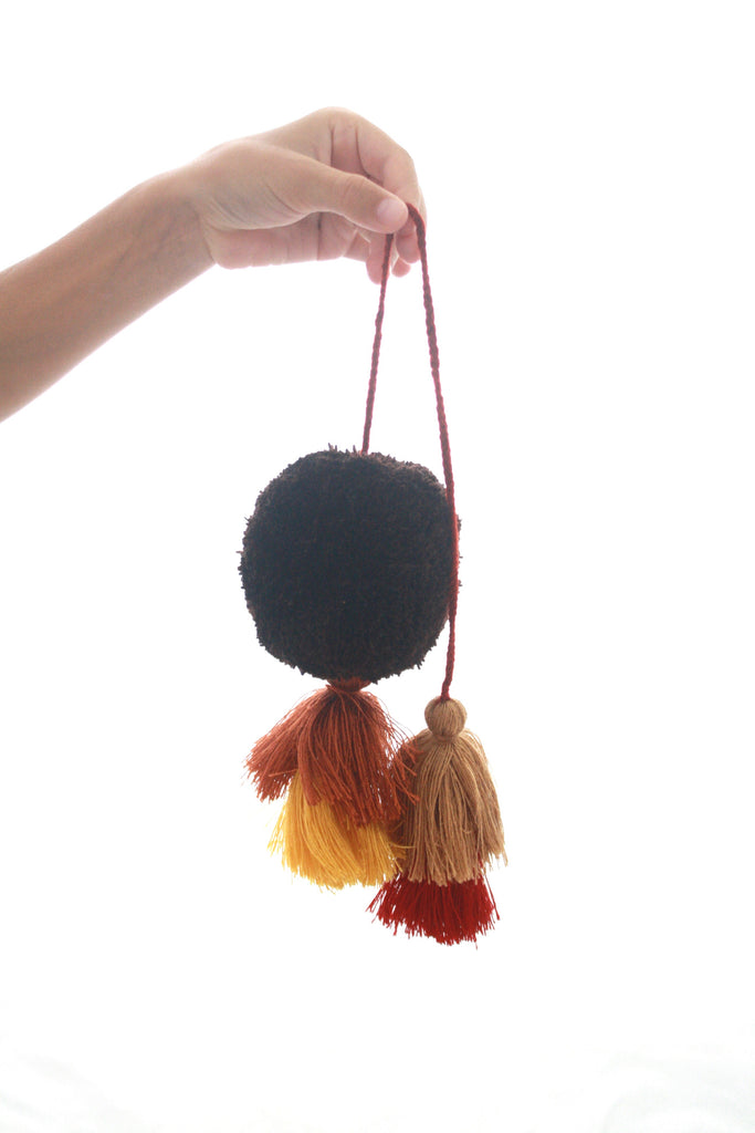 Pom Tassels- Rust & Brown