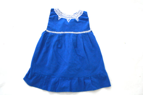 Pom Children's Dress- Azul
