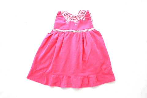 Pom Children's Dress- Rosado
