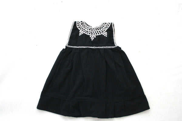 Pom Children's Dress- Negro