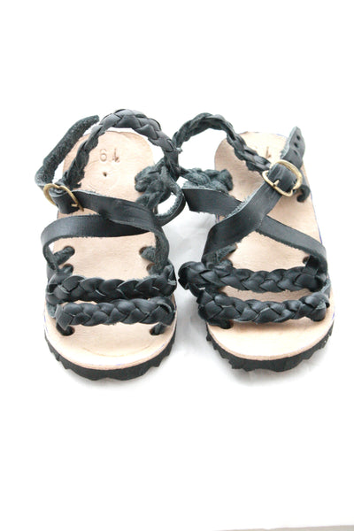 Leather Sandal- Trenza Noche
