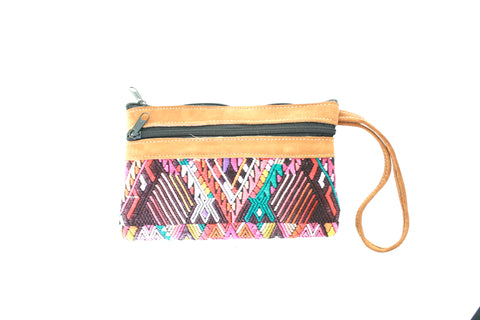 Huipil and Leather Clutch- Antigua