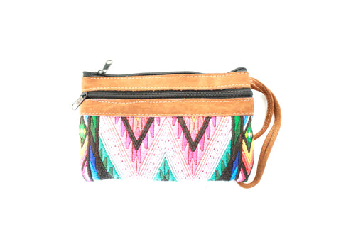 Huipil and Leather Clutch- Colores
