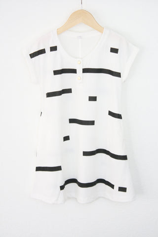 Mini Hilo Dress-Blanca