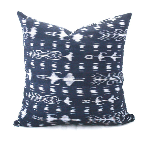 Square Guatemalan Pillow Cover-Azul