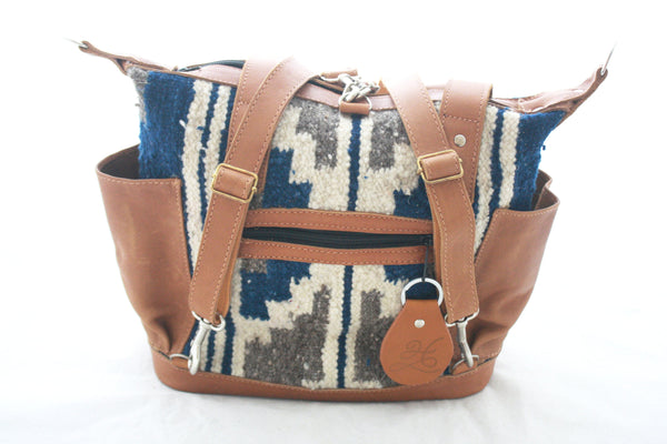 Medium Convertible Everyday Bag- Leather & Wool Bag-Dulce