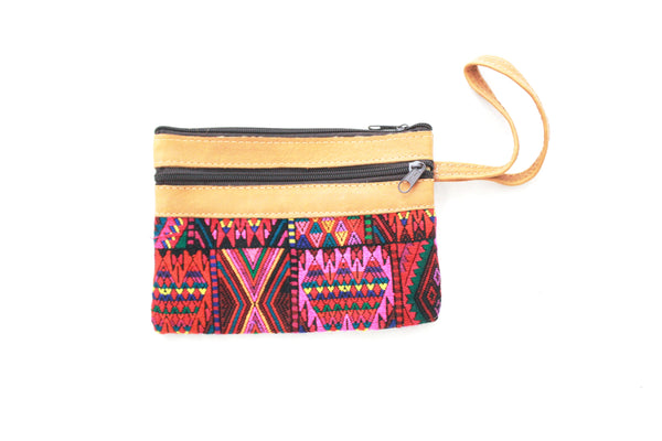 Huipil and Leather Clutch- Senahu