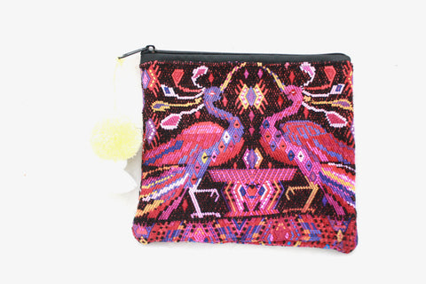 Huipil Cosmetic Bag-Pajaros