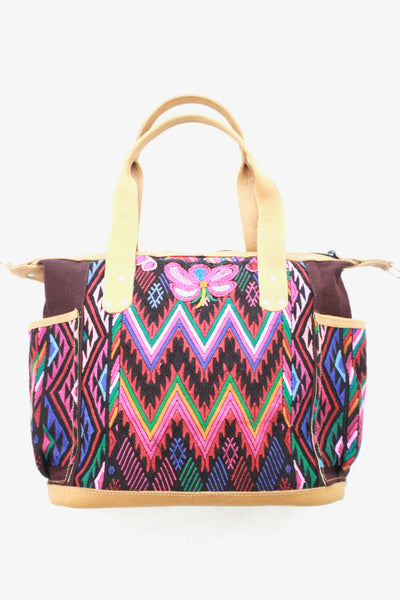 Large Convertible Everyday Bag- Large & Huipil Bag- Guate