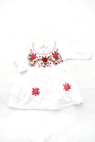 Fresco Baby Dress-Blanco