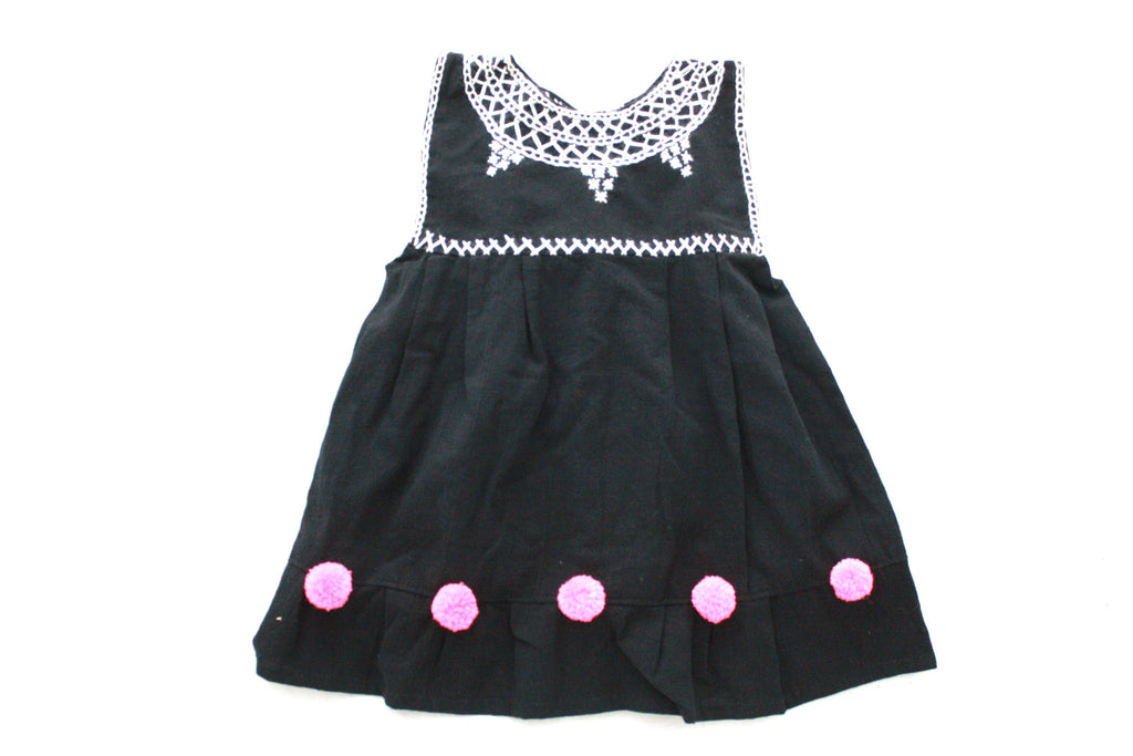 Pom Baby Dress-Black and Pink Size 3