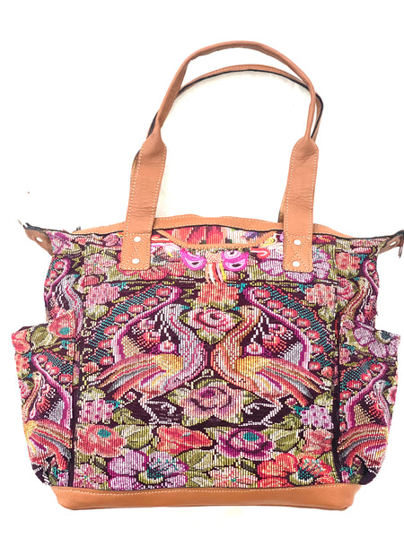 Large Convertible Everyday Bag- Large & Huipil Bag- Volcan