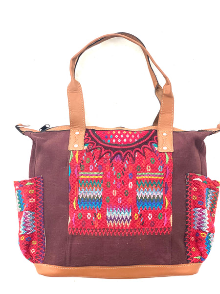 Large Convertible Everyday Bag- Large & Huipil Bag- Fiesta