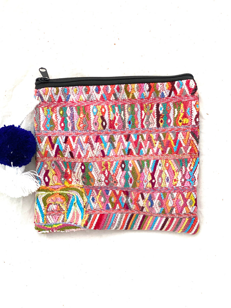 Huipil Cosmetic Bag with Poms- Teleman