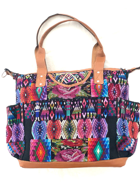 Large Convertible Everyday Bag- Large & Huipil Bag- Senahu