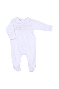 Alana and Andy's Classic Smocked Footie