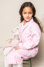 Load image into Gallery viewer, Petite Plume Girls Pink Gingham Robe