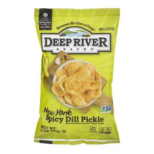 Deep River Spicy Dill Pickle Chips 2 Oz