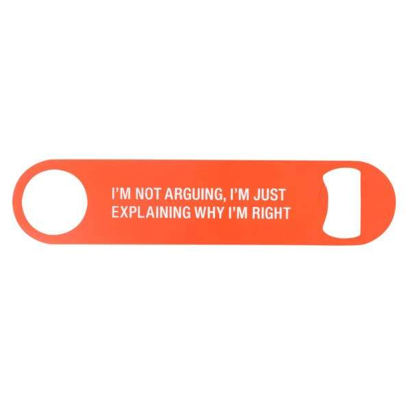 About Face Metal Bottle Opener | I'm Right | Home & Gifts | $5