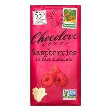 Chocolove Raspberry Dark Choc Bar