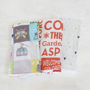 Abbey's House Burp Cloth Set | Colorado | Home & Gifts | $36