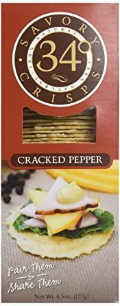 34 Degrees Cracked Pepper Crackers 4.5 Oz
