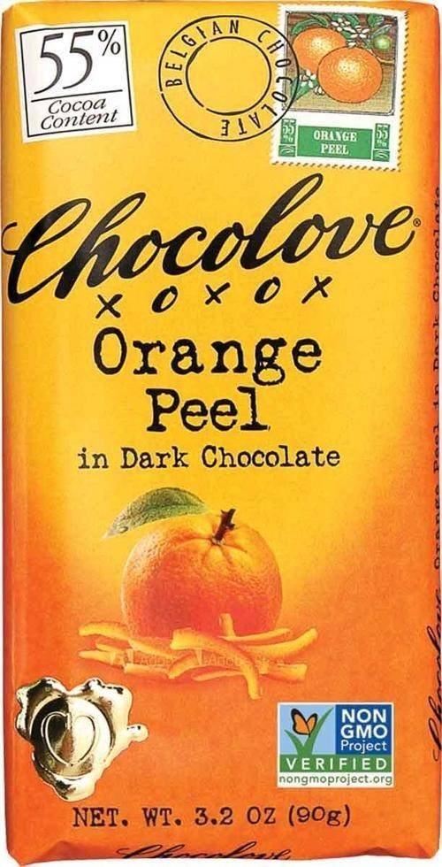 Chocolove Orange Peel Dark Choc Bar 1.3oz