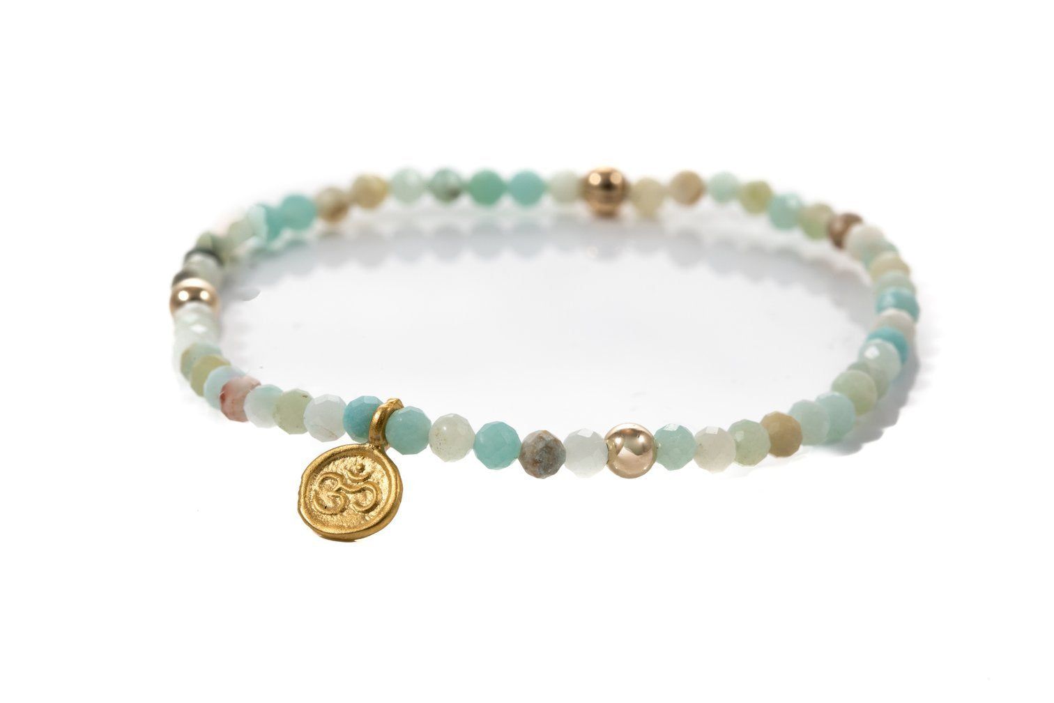 Vanessa B Natural Amazonite & Charm | 14k Filled | Bracelets | $38