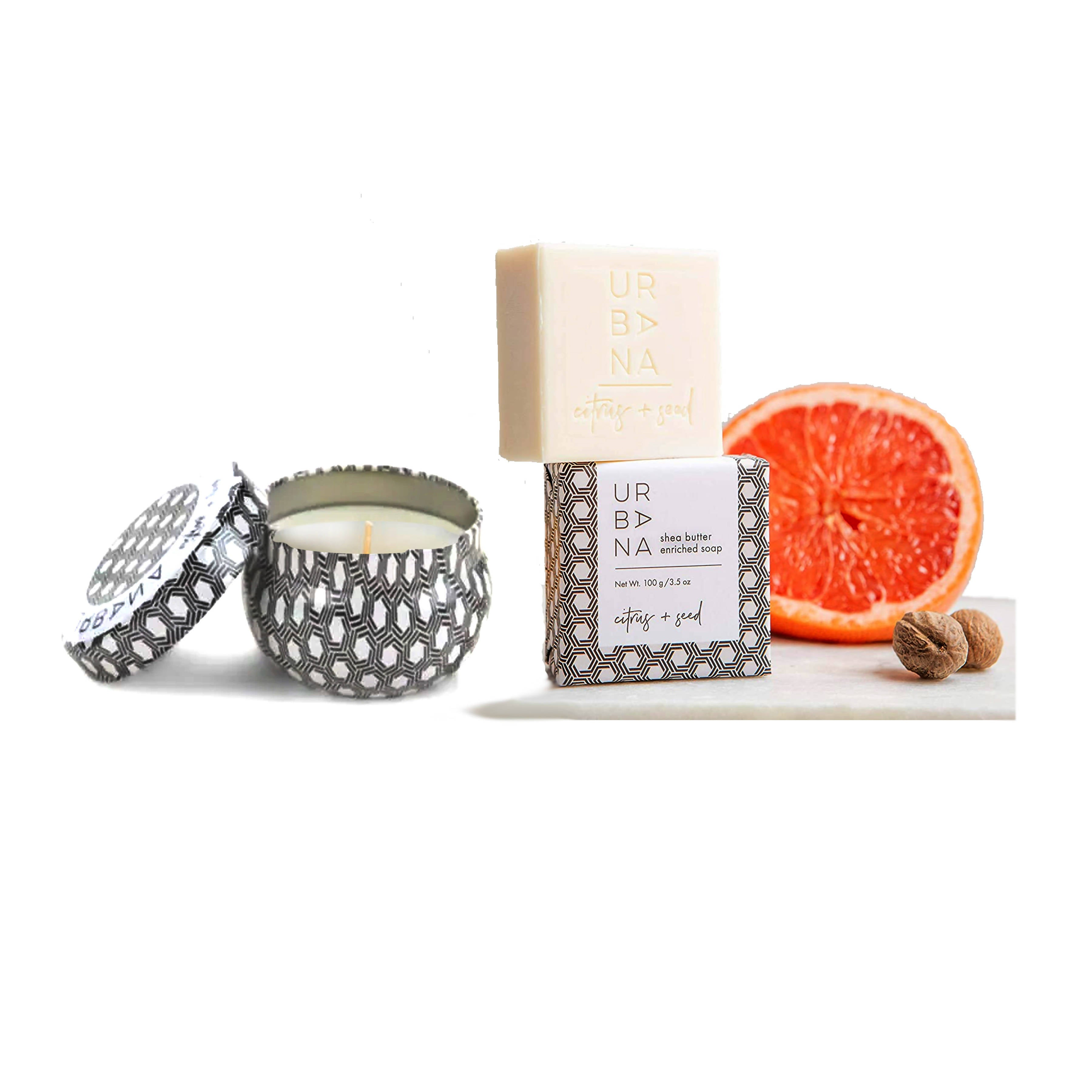 Citrus + Seed Soap & Candle Set