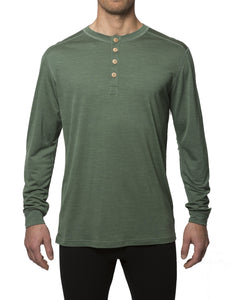 Organic Wool & Silk Long Sleeve Shirt Mens