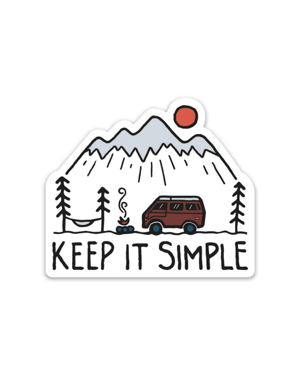 Keep Nature Wild | Keep it Simple Sticker