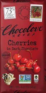 Chocolove Cherries Dark Choc Bar 1.3oz