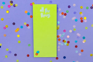 Taylor Elliott Magnet List Pad | All The Things | Cards/Stationary | $12